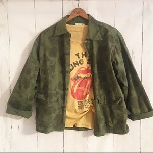 Vintage 1970's Kamo Jacket Camo Shirt Button Up